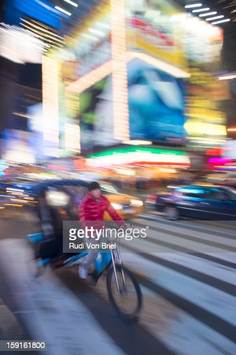 Pedicab in Times Square, NYC : Stock Photo