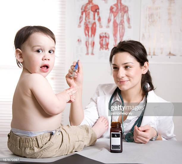 Peditrician and child