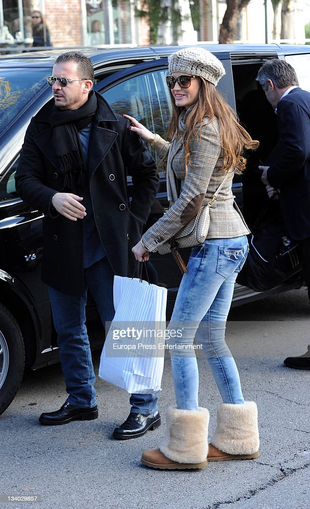 Pedja Mijatovic and Davor Suker's girlfriend are seen on November 23, 2011 in Madrid, Spain.