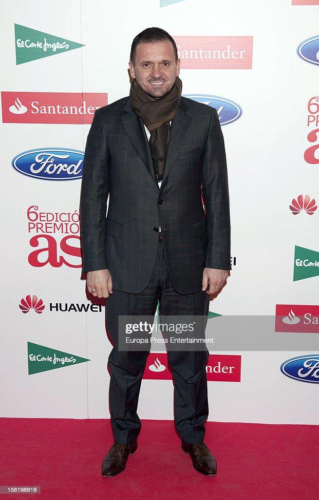 Pedja Mijatovic attends As Del Deporte' Awards 2012 on December 10, 2012 in Madrid, Spain.
