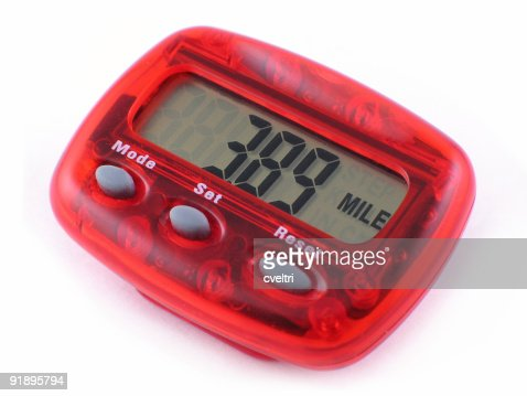 Pedometer Isolated | Exercise Equipment that Counts Steps and Miles