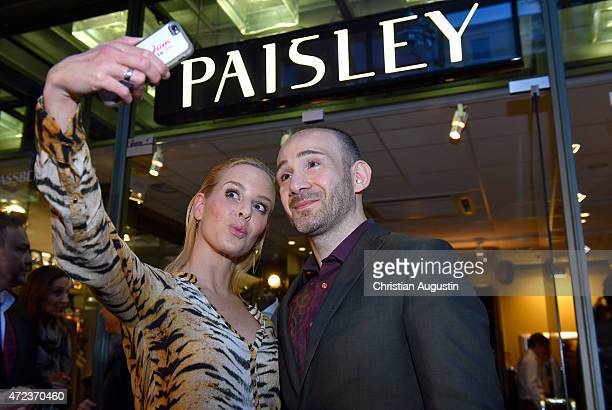 Pedram Nejad and Isabel Edvardsson attend the Paisley Spring/Summer Collection Presentation on May 6 2015 in Hamburg Germany