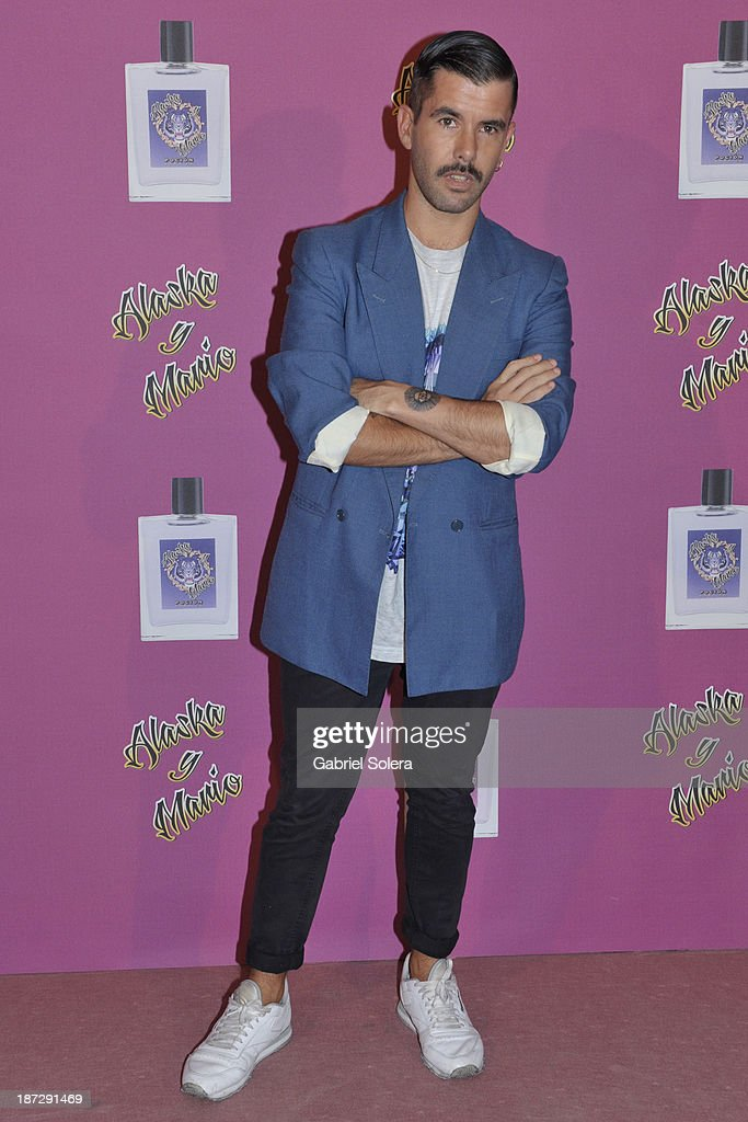 Pedriño attends the presentation of the new fragrance from Alaska and Mario Vaquerizo in Madrid on November 7, 2013 in Madrid, Spain.