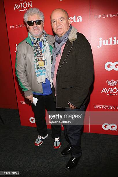 Pedro Almodovar and Agustin Almodovar attend The Cinema Society with Avion and GQ Host a Screening of Sony Pictures Classics' 'Julieta' at The...