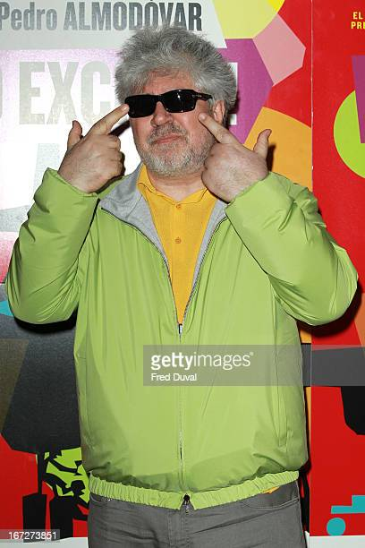 Pedro Almodovar attends a gala screening of 'I'm So Excited' at Hackney Picturehouse on April 23 2013 in London England
