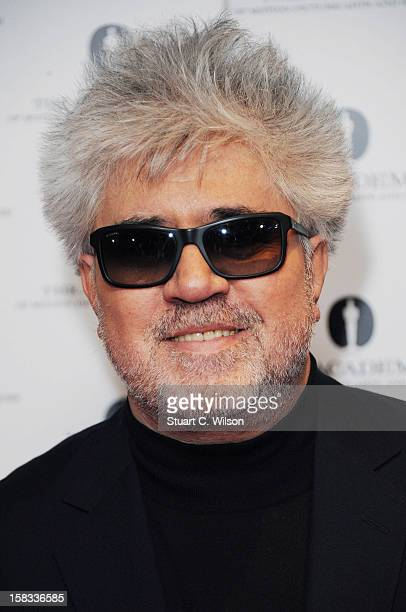 Pedro Almodovar attends as The Academy of Motion Picture Arts and Sciences honours director Pedro Almodovar at Curzon Soho on December 13 2012 in...