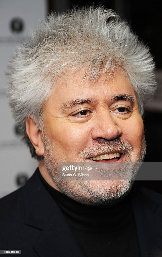 Pedro Almodovar attends as The Academy of Motion Picture Arts and Sciences honours director Pedro Almodovar at Curzon Soho on December 13, 2012 in London, England.