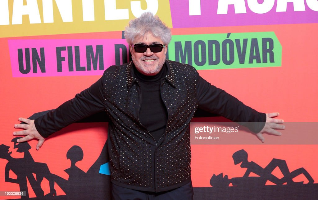 <a gi-track='captionPersonalityLinkClicked' href=/galleries/search?phrase=Pedro+Almodovar&family=editorial&specificpeople=202502 ng-click='$event.stopPropagation()'>Pedro Almodovar</a> attends 'Los Amantes Pasajeros' premiere party at the Casino de Madrid on March 7, 2013 in Madrid, Spain.