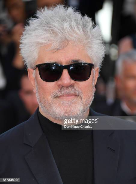 Pedro Almodovar attends the 70th Anniversary screening during the 70th annual Cannes Film Festival at Palais des Festivals on May 23 2017 in Cannes...