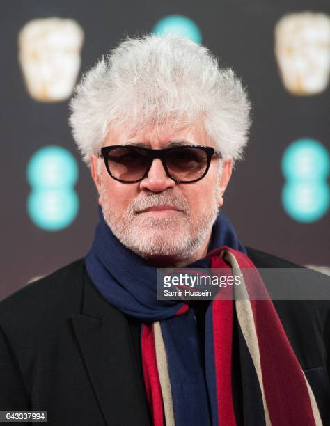 Pedro Almodovar attends the 70th EE British Academy Film Awards at Royal Albert Hall on February 12 2017 in London England