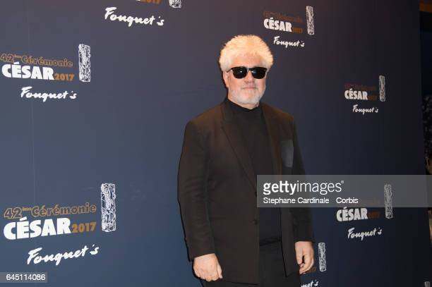 Pedro Almodovar attends the Cesar's Dinner at Le Fouquet's on February 24 2017 in Paris France