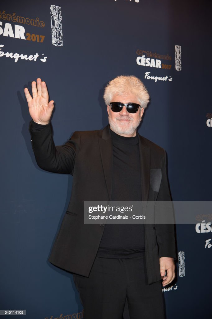Pedro Almodovar attends the Cesar's Dinner at Le Fouquet's on February 24, 2017 in Paris, France.