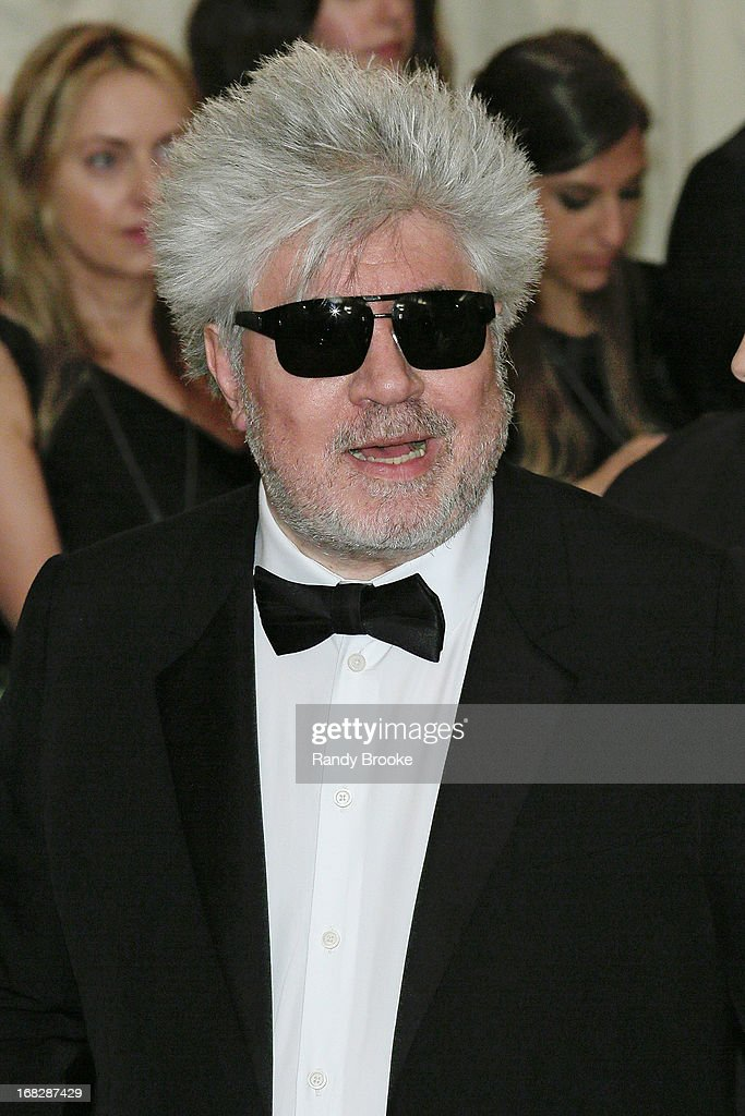<a gi-track='captionPersonalityLinkClicked' href=/galleries/search?phrase=Pedro+Almodovar&family=editorial&specificpeople=202502 ng-click='$event.stopPropagation()'>Pedro Almodovar</a> attends the Costume Institute Gala for the 'PUNK: Chaos to Couture' exhibition at the Metropolitan Museum of Art on May 6, 2013 in New York City.