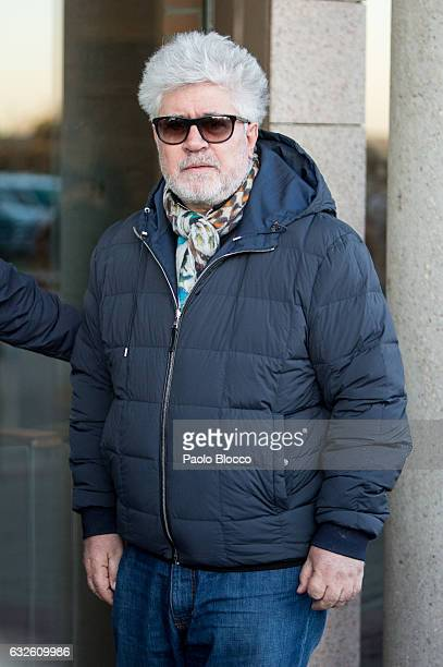 Pedro Almodovar attends the funeral chapel for Bimba Bose on January 24 2017 in Madrid Spain Bimba Bose died in Madrid at the age of 41 after losing...