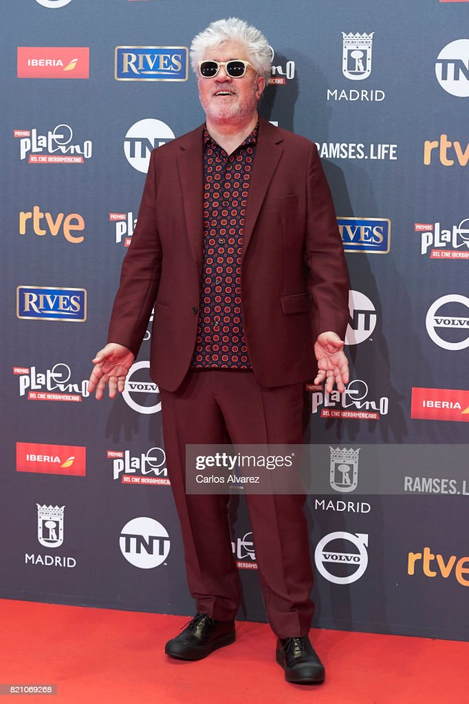 Pedro Almodovar attends the Platino Awards 2017 photocall at the La Caja Magica on July 22, 2017 in Madrid, Spain.
