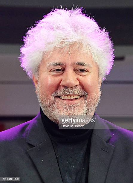 Pedro Almodovar bows at the curtain call during the press night performance of 'Woman On The Verge Of A Nervous Breakdown' at the Playhouse Theatre...