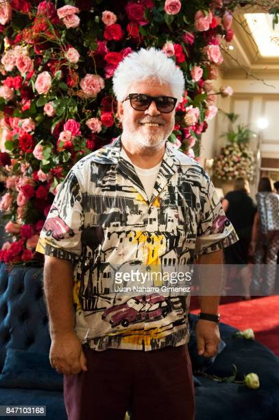 Pedro Almodovar is seen at Palomo Spain front row during MercedesBenz Fashion Week Madrid Spring/Summer 2018 on September 14 2017 in Madrid Spain