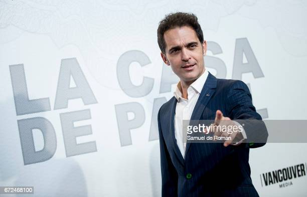 Pedro Alonso attends 'La Casa de Papel' Madrid Premiere on April 24 2017 in Madrid Spain