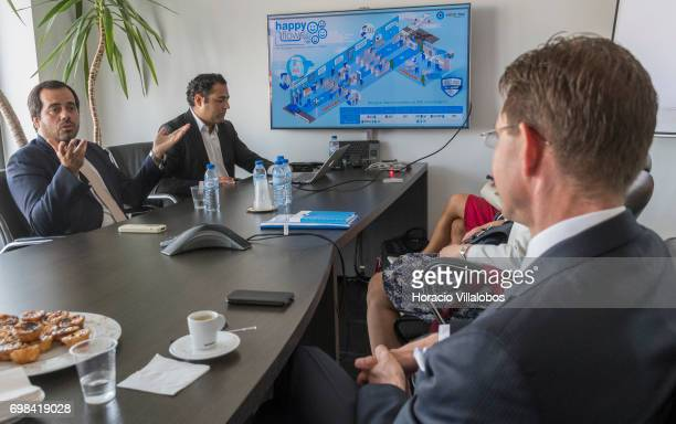 Pedro Alves VisionBox Business Development Director and Pedro Torres Head of Product Innovation and Marketing Management brief European Commission...