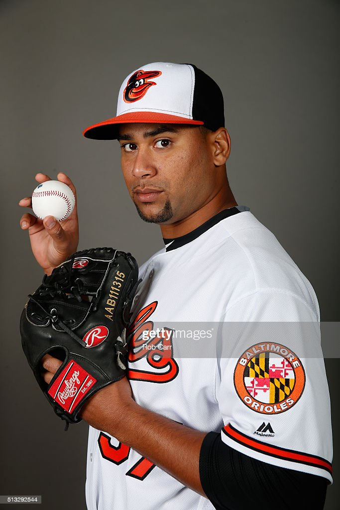 Pedro Beato of the Baltimore Orioles poses during photo day at Ed Smith Stadium on February 28 2016 in Sarasota Florida