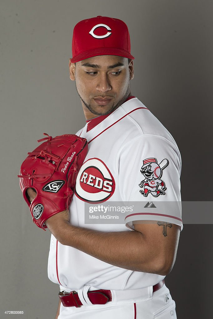 Pedro Beato of the Cincinnati Reds poses during picture day on February 20 2014 at Goodyear Park in Goodyear Arizona