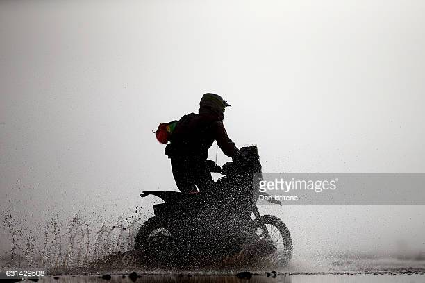 Pedro Bianchi Prata of Portugal and Honda rides a CRF450R Rally Honda bike in the Classe 22 Marathon during stage eight of the 2017 Dakar Rally...
