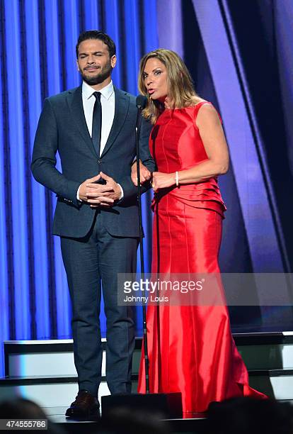 Pedro Capó and Ana Maria Polo onstage at the 2015 Billboard Latin Music Awards presented by State Farm on Telemundo at Bank United Center on April 30...