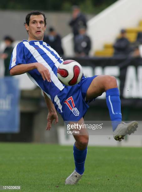 Pedro Caravana of Vizela during the Portuguese Cup match between Nacional da Madeira and Vizela in Funchal Madeira Portugal on January 7 2007