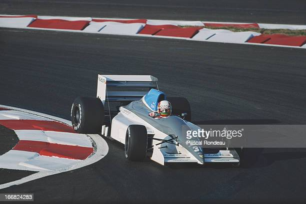 Pedro Chaves of Portugal drives the Coloni Racing Srl Coloni C4 Ford Cosworth DFR 35 V8 during pre qualifying for the French Grand Prix on 5th July...