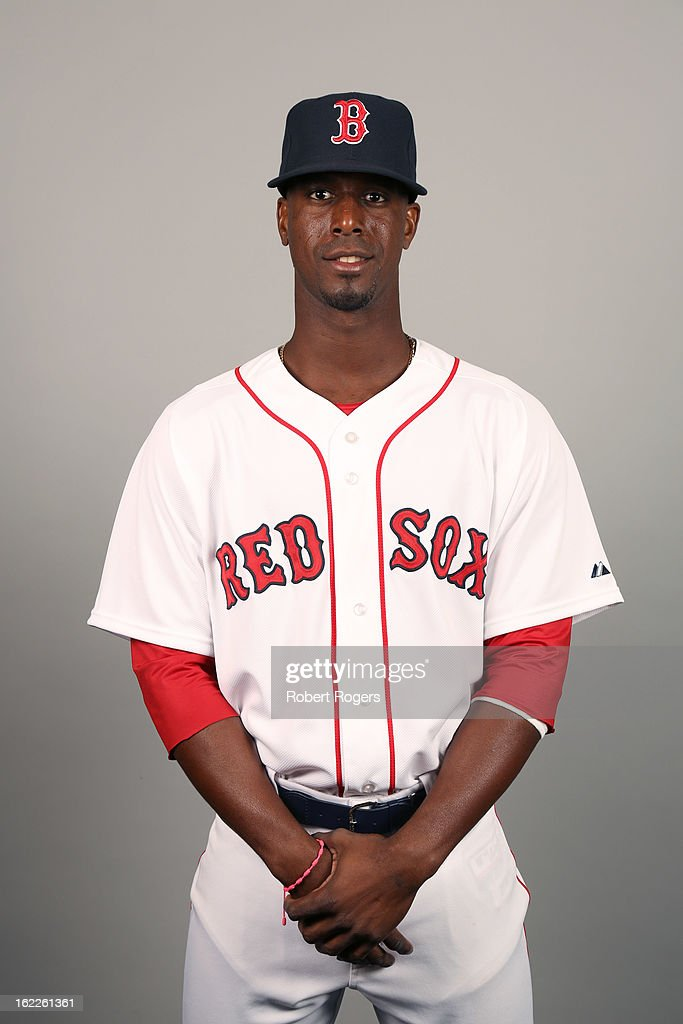 <a gi-track='captionPersonalityLinkClicked' href=/galleries/search?phrase=Pedro+Ciriaco&family=editorial&specificpeople=5718591 ng-click='$event.stopPropagation()'>Pedro Ciriaco</a> #23 of the Boston Red Sox poses during Photo Day on February 17, 2013 at JetBlue Park in Fort Myers, Florida.