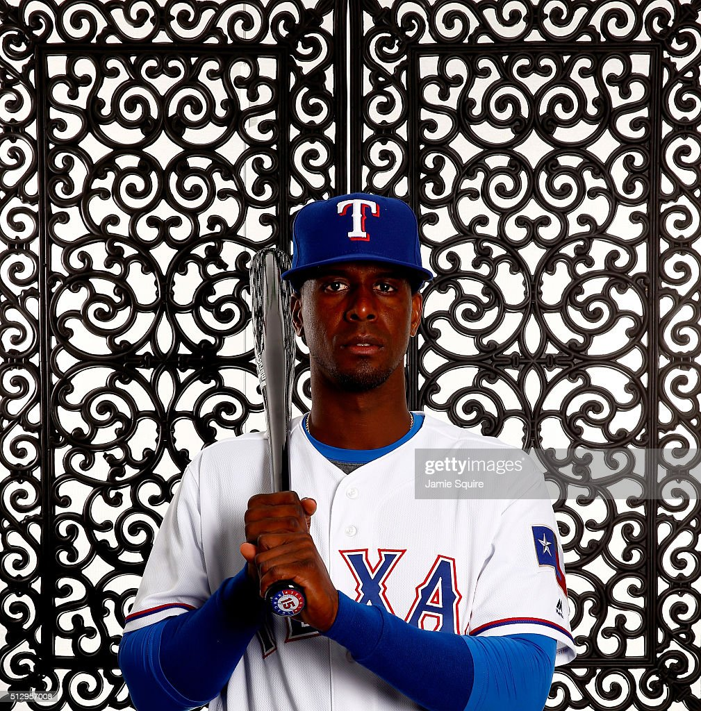 <a gi-track='captionPersonalityLinkClicked' href=/galleries/search?phrase=Pedro+Ciriaco&family=editorial&specificpeople=5718591 ng-click='$event.stopPropagation()'>Pedro Ciriaco</a> #15 of the Texas Rangers poses during a spring training photo shoot on February 28, 2016 in Surprise, Arizona.