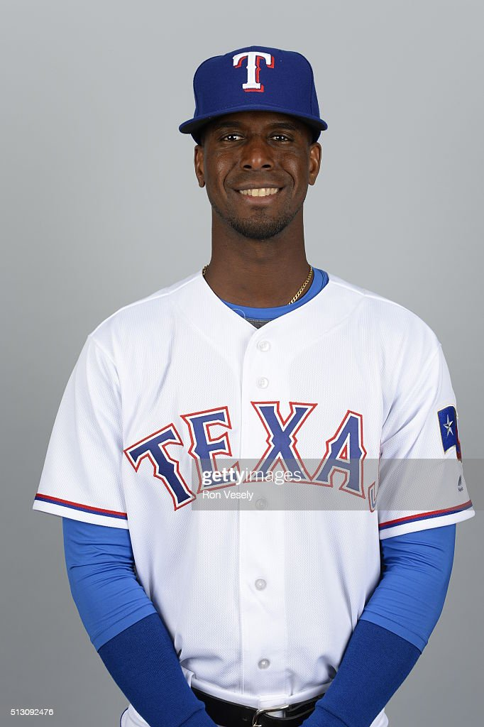 <a gi-track='captionPersonalityLinkClicked' href=/galleries/search?phrase=Pedro+Ciriaco&family=editorial&specificpeople=5718591 ng-click='$event.stopPropagation()'>Pedro Ciriaco</a> #15 of the Texas Rangers poses during Photo Day on Sunday, February 28, 2016 at Surprise Stadium in Surprise, Arizona.