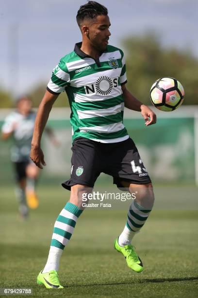 Pedro Delgado of Sporting CP B in action during the Segunda Liga match between Sporting CP B and SL Benfica B at CGD Stadium Aurelio Pereira on May 5...