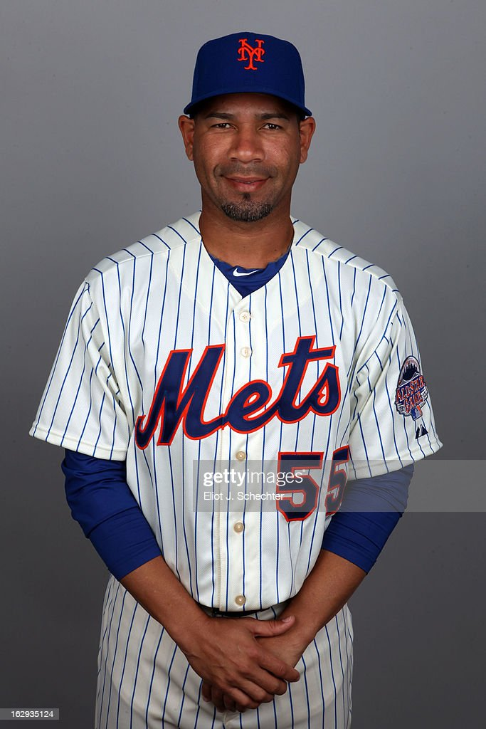 Pedro Feliciano #55 of the New York Mets poses during Photo Day on February 21, 2013 at Mets Stadium in Port St. Lucie, Florida.