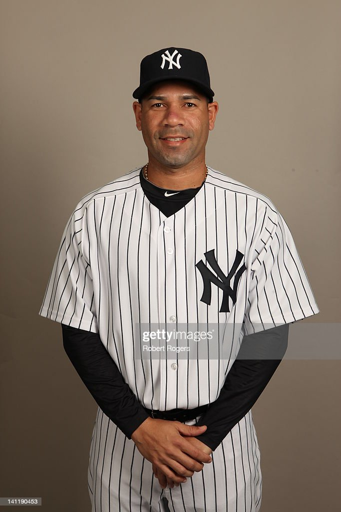 Pedro Feliciano (31) of the New York Yankees poses during Photo Day on Monday, February 27, 2012 at George M. Steinbrenner Field in Tampa, Florida.