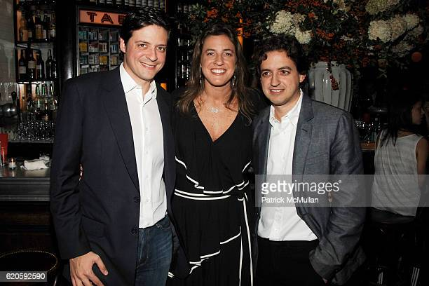 Pedro Jereissati Erika Jereissati and Carlos Jereissati Filho attend Private Dinner hosted by CARLOS JEREISSATI CEO of IGUATEMI at Pastis on...
