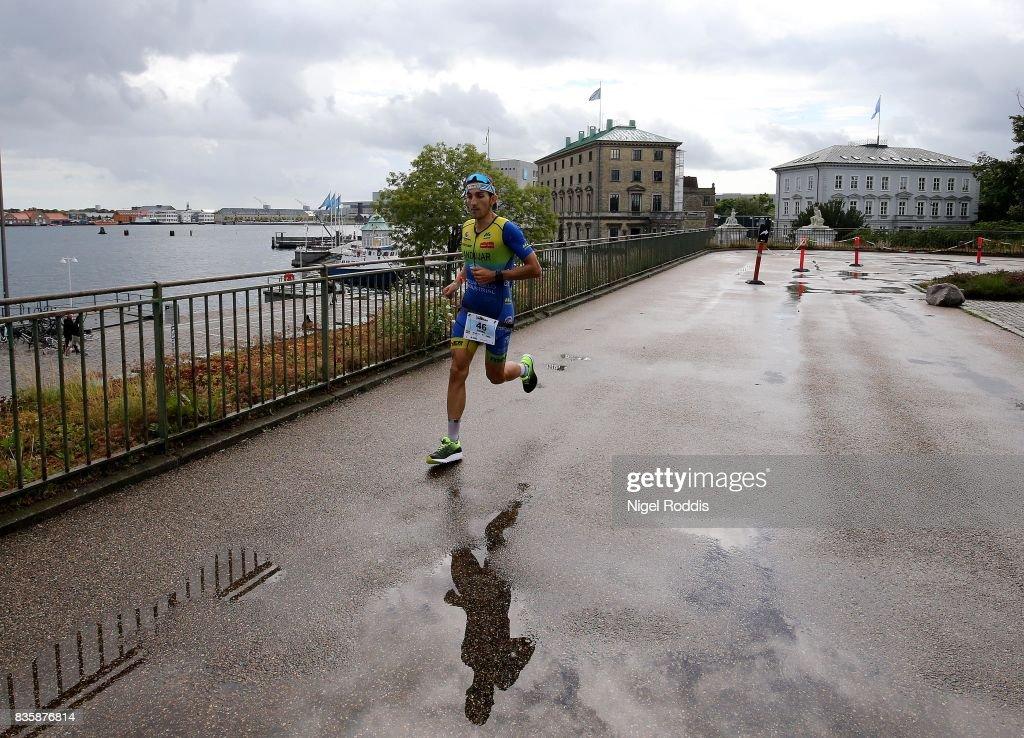 Pedro Jose Bastida Andujar of Spain during the run section of KMD IRONMAN Copenhagen on August 20, 2017 in Copenhagen, Denmark.