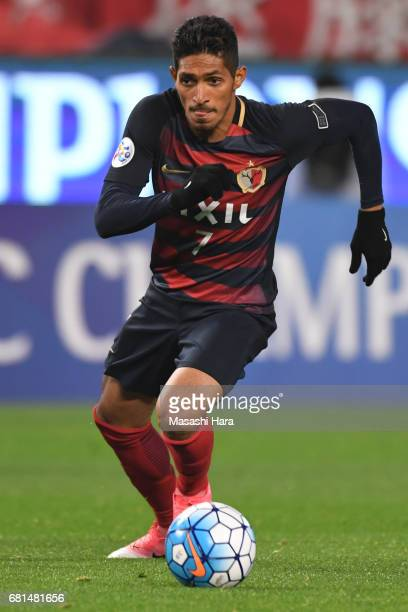 Pedro Junior of Kashima Antlers in action during the AFC Champions League Group E match between Kashima Antlers and Muangthong United at Kashima...