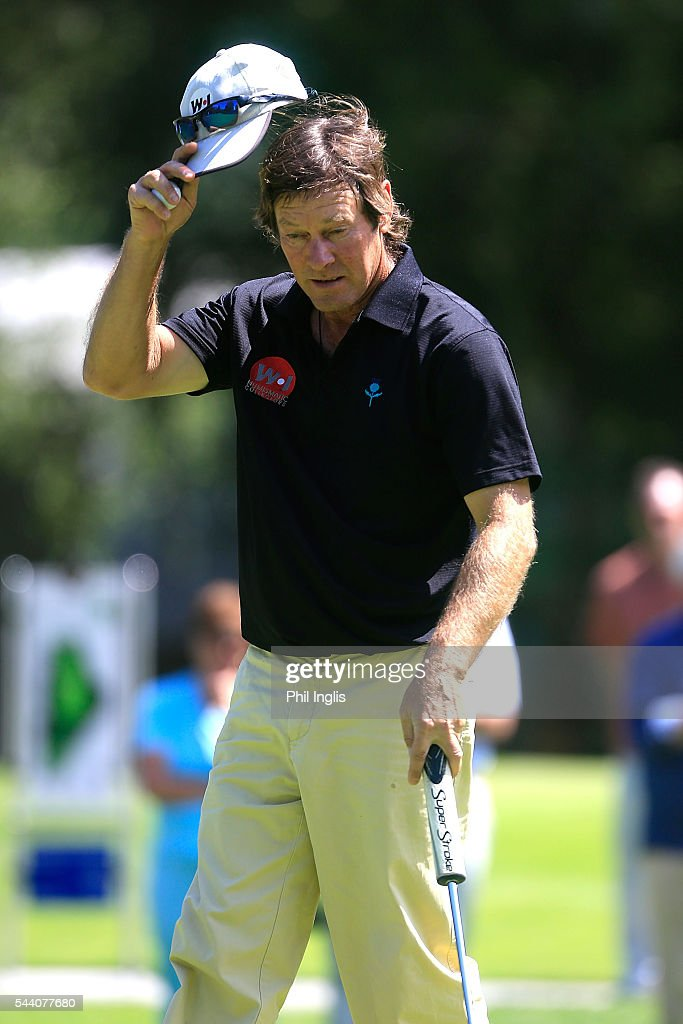 Pedro Linhart of Spain in action during the the first round of the Swiss Seniors Open played at Golf Club Bad Ragaz on July 1, 2016 in Bad Ragaz, Switzerland.