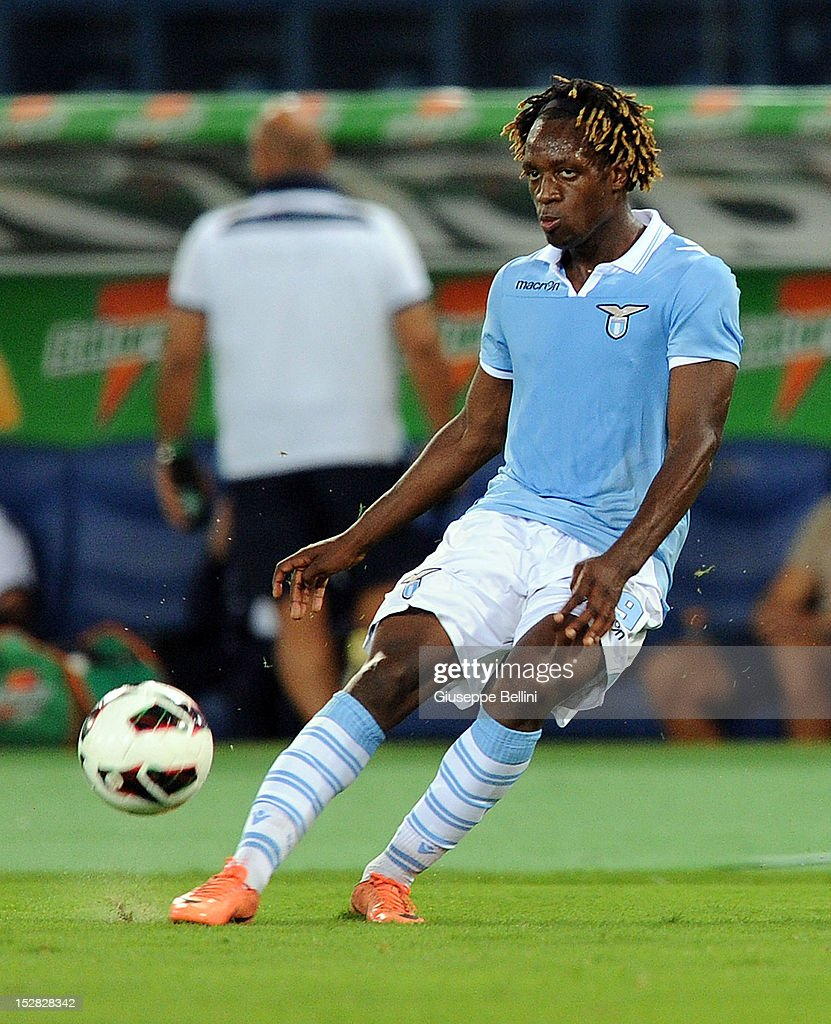 Pedro Luis Cavanda of Lazio in action during the pre-season friendly match between SS Lazio and Getafe CF at Olimpico Stadium on August 11, 2012 in Rome, Italy.