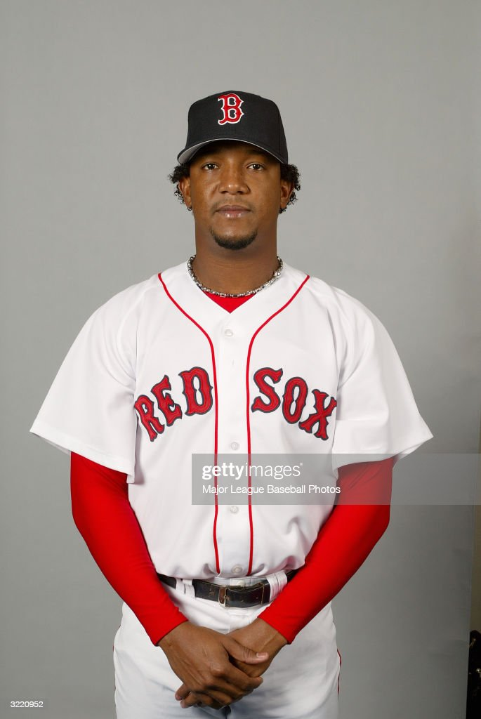 <a gi-track='captionPersonalityLinkClicked' href=/galleries/search?phrase=Pedro+Martinez&family=editorial&specificpeople=171773 ng-click='$event.stopPropagation()'>Pedro Martinez</a> of the Boston Red Sox on February 28, 2004 in Ft. Myers, Florida.