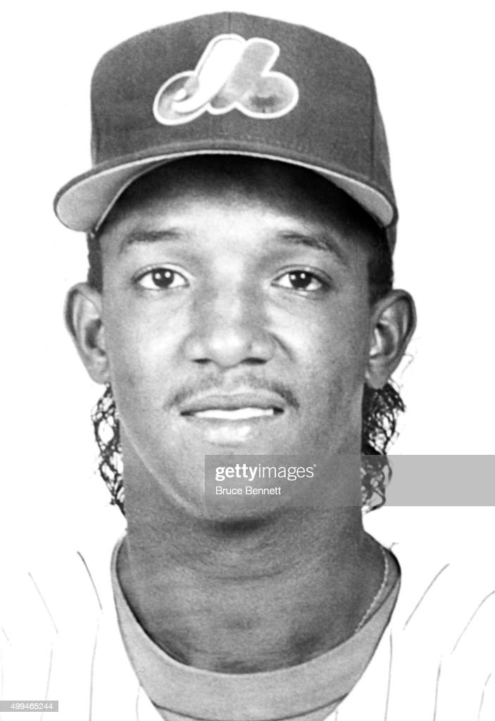 <a gi-track='captionPersonalityLinkClicked' href=/galleries/search?phrase=Pedro+Martinez&family=editorial&specificpeople=171773 ng-click='$event.stopPropagation()'>Pedro Martinez</a> #45 of the Montreal Expos poses for a portrait in March, 1995 in Montreal, Quebec, Canada.