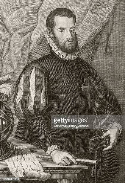 Pedro Menendez De Aviles 1519 To 1574 Spanish Admiral Founder Of St Augustine Florida And First Governor Of Florida After A Work By Francisco De...