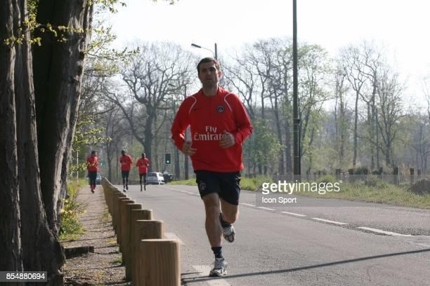 Pedro Miguel PAULETA entrainement et decrassage du PSG Camp des loges St Germain en laye