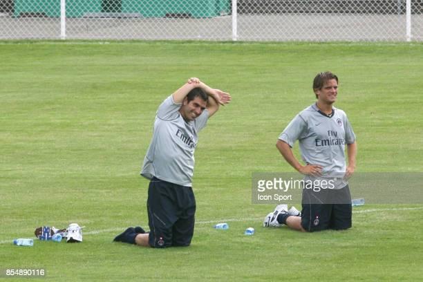 Pedro Miguel PAULETA / Jerome ROTHEN Reprise entrainement du PSG Camp des Loges Saison 2007/2008