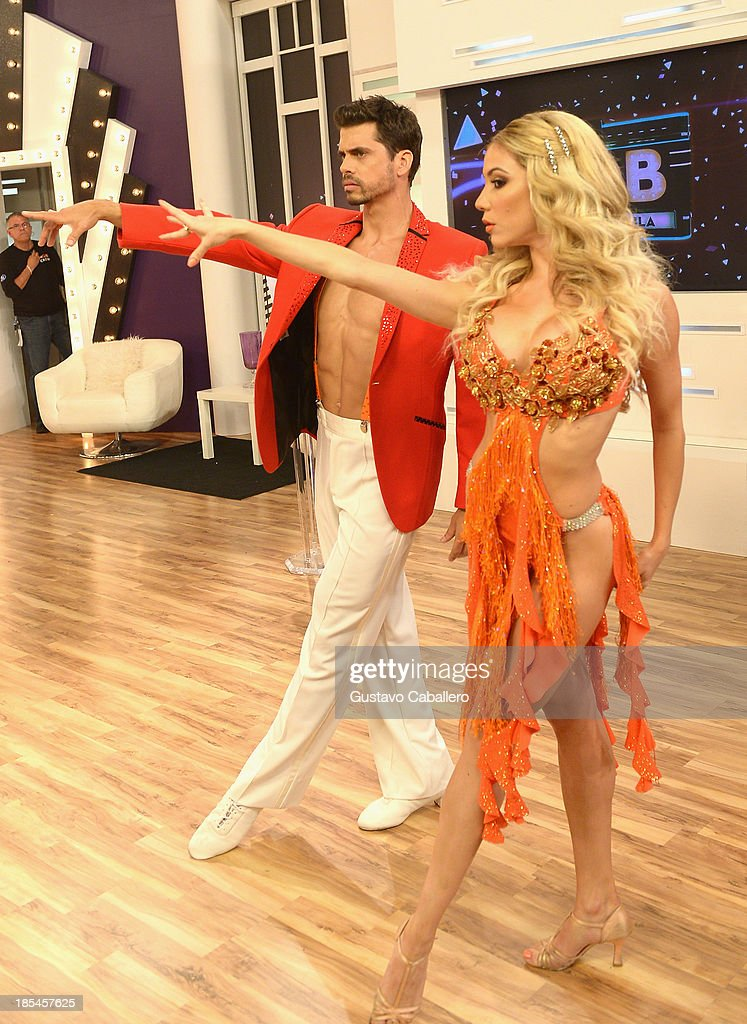 Pedro Moreno attends the set of Mira Quien Baila at Univision Headquarters on October 20, 2013 in Miami, Florida.