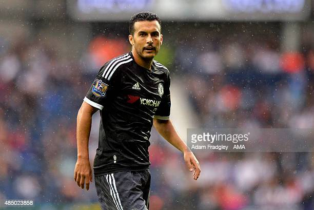 Pedro of Chelsea during the Barclays Premier League match between West Bromwich Albion and Chelsea on August 23 2015 in West Bromwich United Kingdom