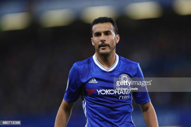 Pedro of Chelsea during the Premier League match between Chelsea and Middlesbrough at Stamford Bridge on May 8 2017 in London England