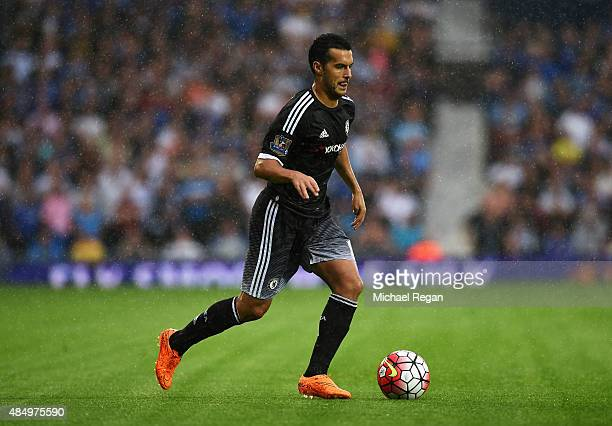 Pedro of Chelsea in action during the Barclays Premier League match between West Bromwich Albion and Chelsea at The Hawthorns on August 23 2015 in...