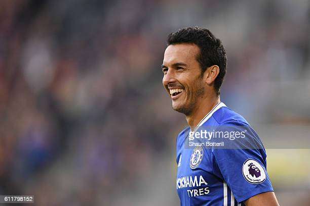 Pedro of Chelsea in action during the Premier League match between Hull City and Chelsea at KCOM Stadium on October 1 2016 in Hull England